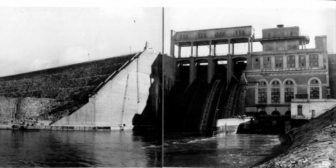 Широковская ГЭС в 1940-х годах